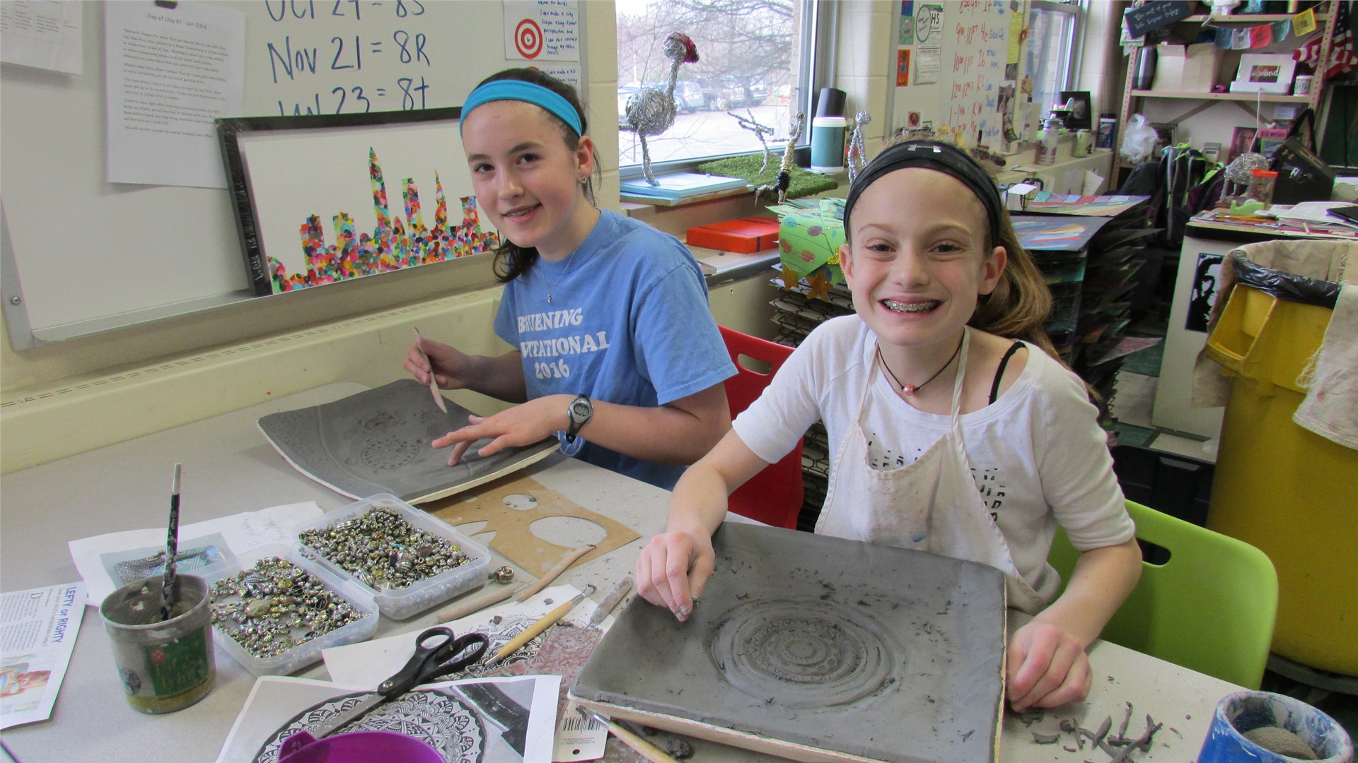 Grade 8 students participate in the Day of Clay