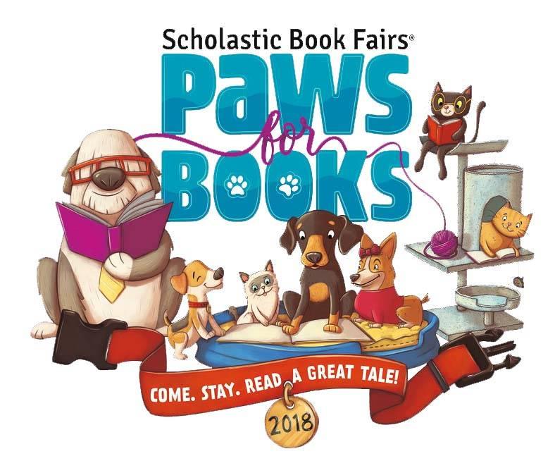 Paws for Books Logo